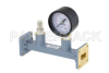 WR-62 Waveguide Pressurizing Section 4.25 Inch Length, UG-419/U Square Cover Flange from 12.4 GHz to 18 GHz -- PEWSP1005 - Image