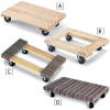 AKRO-MILS Hardwood Dollies with Solid or Open Decks -- 7104203