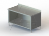 """TSBO Series, Stainless Steel Cabinet with 4"""" Backsplash NSF Listed -- 4TSBO-24120 - Image"""