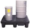 4-Drum Low Profile Spill Pallet w/ Drain -- PAL104D