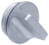 Aluminum Threaded Plug with Finger Grip -- GN 442