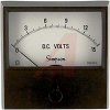 Voltmeter; + 2 %; DC; Annular, Self-Shielding; 0 to 15 VDC; 2-1/2 in.; + 15% -- 70209465 - Image