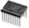 Low-Profile Collet DIP Socket with Wire Wrap Pins – Series 503 - Image