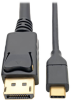 USB-C to DisplayPort Cable, 4K @ 60Hz, Thunderbolt 3, 6 ft. -- U444-006-DP - Image