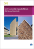 Environmental impact of brick, stone and concrete -- FB58
