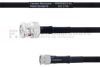 BNC Male to SMA Male MIL-DTL-17 Cable M17/84-RG223 Coax in 24 Inch -- FMHR0033-24 -Image