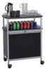 Mobile Beverage Cart,Black -- 8964BL
