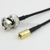 BNC Male to SMB Plug Cable RG174 Coax in 72 Inch -- FMC0816174-72 -Image