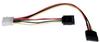 Serial ATA (SATA) Dual Power Adapter Y Cable (LP4 4pin to 2x 15pin SATA) 12-in. -- P946-12I