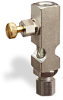 "(Formerly B1631-5X00), Straight Small Sight Feed Valve, 1/8"" Female NPT Inlet, 1/4"" OD Tube Outlet, Handwheel -- B1628-415B1HW -Image"
