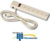 Leviton 6-Outlet Plug Strip with 2 RJ11 Phone Jacks -- 4900-PST