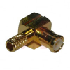 connector,rf coaxial,mcx right angle crimp plug,for rg174,316,LMR100 cable -- 70031854 - Image