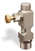 "(Formerly B1631-10X00), Straight Small Sight Feed Valve, 1/4"" Male NPT Inlet, 1/4"" Female NPT Outlet, Handwheel -- B1628-443B1HW -Image"