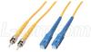 9/125, Singlemode Fiber Cable, Dual ST /Dual SC, 3.0m -- SFODST-SC-03 -Image