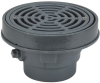 Area Drain with 8 in. Round Fixed Top, Grate Supported by Bucket -- FD-320-Y-SET -- View Larger Image