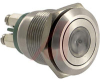 Switch, Illuminated, 22mm DIA., DOT ILLUMINATION, GREEN, SCREW TERMINATION -- 70099389 - Image