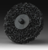 3M Scotch-Brite CR-DH Non-Woven Silicon Carbide Hook & Loop Disc - Very Coarse Grade - 4 1/2 in Diameter - 18424 -- 048011-18424 - Image