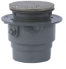 Floor Drain with Round Hinged Solid Cover -- FD-200-VD -- View Larger Image