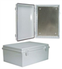 14x10x6 Inch Weatherproof ABS Light-Weight Enclosure with Blank Aluminum Mounting Plate -- NBE141006-KIT -Image