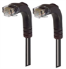 Category 5E LSZH Right Angle Patch Cable, Right Angle Down/Right Angle Down, Black, 2.0 ft -- TRD815ZRA3BLK-2 -Image