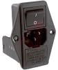 Power Entry Module; 10 A; 250 VAC; DPST; Screw; Multi function module; -- 70133336