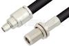 SMA Male to N Female Bulkhead Cable 18 Inch Length Using RG214 Coax -- PE33481-18 -Image