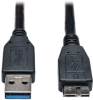 USB 3.0 SuperSpeed Device Cable (A to Micro-B M/M) Black, 3-ft. -- U326-003-BK