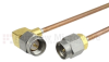SMA Male to RA SMA Male Cable RG-405 Coax in 6 Inch -- FMC0204988-06 -Image