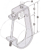 306 Series Conduit Hanger J - Type -- 306 - 204 - Image