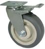 Total Locking Caster - Flat Gray Soft Rubber - Model 4A -- 4ARF6x2-ML