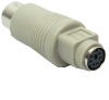 PS/2 (MiniDin6) Female to AT (Din5) Male Keyboard Adapter -- 30D5-2A - Image