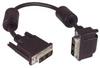 DVI-D Single Link DVI Cable Male / Male Right Angle,Top 0.5m -- MDA00025-05M -Image