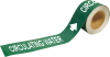 Brady Pipe Markers-To-Go B-736 Green Plastic Self-Adhesive Pipe Marker - 1 in Height - 8 in Length - Printed Msg = CIRCULATING WATER - 20410 -- 754473-20410