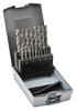 Jobber Drill Bit Set: heavy duty HSS, 1.0 to 10.0mm diameter, 19-pc -- 214214RO