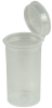 2.38 oz. Transparent Clear Squeezetop® Hinged Lid Vials -- 75870