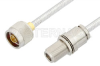 N Male to N Female Bulkhead Cable 18 Inch Length Using PE-SR401FL Coax, RoHS -- PE34150LF-18 -Image