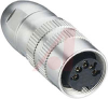 connector,circular din,female din locking plug,8 contact,ip68(watertight) -- 70151282
