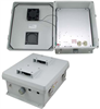 12x10x5 Inch 120 VAC Weatherproof NEMA Enclosure with Heater and Cooling Fan -- NB121005-1HF -Image