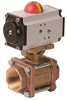 Pneumatically Actuated 3 PC Bronze Valve -- PVA Series