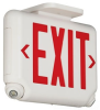 Combination Emergency Light/Exit Sign Unit -- EVCURBD