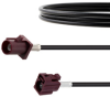 Bordeaux FAKRA Plug to FAKRA Jack Cable 12 Inch Length Using RG174 Coax -- FMCA1352D-12 -Image