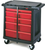Rubbermaid 7734-88 5-Drawer Mobile Work Center -- RM-773488BLA