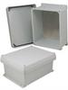 10x8x5 Inch UL® Listed Weatherproof NEMA 4X Enclosure w/Aluminum Mounting Plate, Corner Screws -- NBC100805-KIT -Image