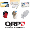 QRP Qualatex 609BYF White Small Latex Full Fingered Work & General Purpose Gloves - Uncoated - 9 in Length - 609BYF SM -- 609BYF SM