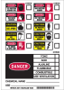 Brady Black / Red / Yellow on White Personal Protective Equipment Label - Printed Text = DANGER EYE PROTECTION REQUIRED HERE (w/ check boxes) - 58711 -- 754476-58711