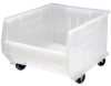 Mobile Clear-View Bin,H 15 x W 18-1/4 -- 6GAP5