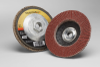 3M Cubitron II 967A Type 27 Coated Ceramic Aluminum Oxide Flap Disc - 80 Grit - 4 1/2 in Diameter - 55604 -- 051141-55604 - Image