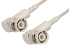 BNC Male Right Angle to BNC Male Right Angle Cable 36 Inch Length Using RG316 Coax, RoHS -- PE3842LF-36 -Image