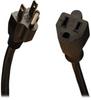 Power Extension Cord, NEMA 5-15P to NEMA 5-15R - 10A, 120V, 18 AWG, 15 ft., Black -- P022-015