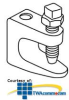 "Erico Reversible Beam Clamps, up to 3/4"" Flange -- 3000037EG -- View Larger Image"